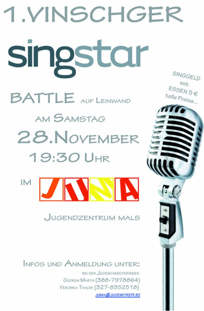 Vinschger singstarbattle 21. November