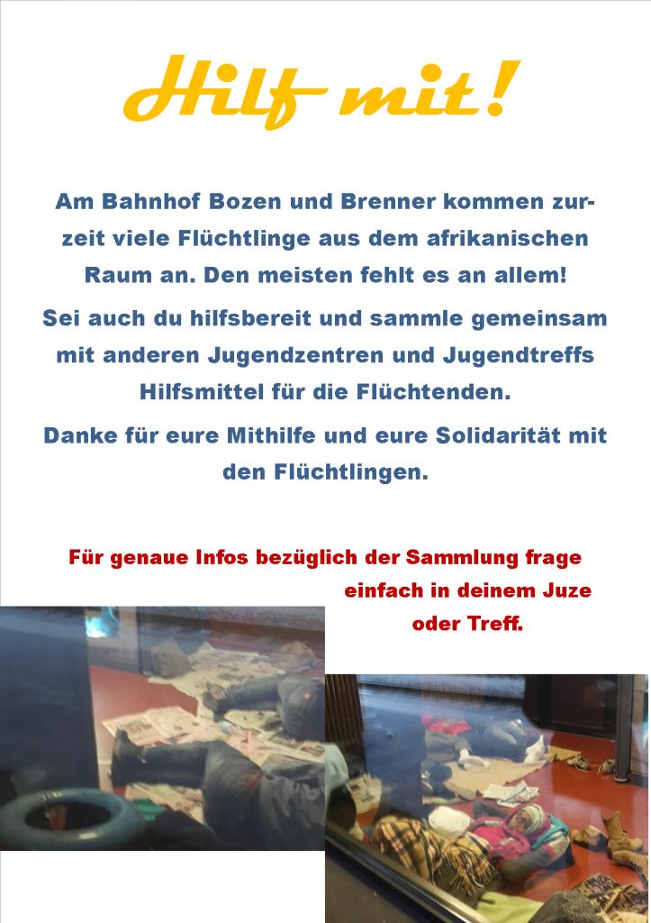 Flyer Sammlung Flüchtlinge